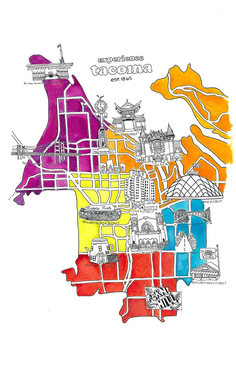 Tacoma Districts Map