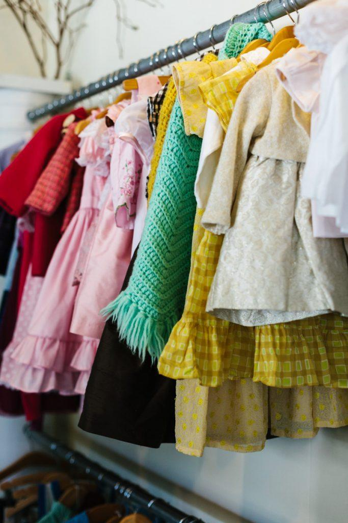 Childrens clothing at Blooming Kids store and Tacoma event space