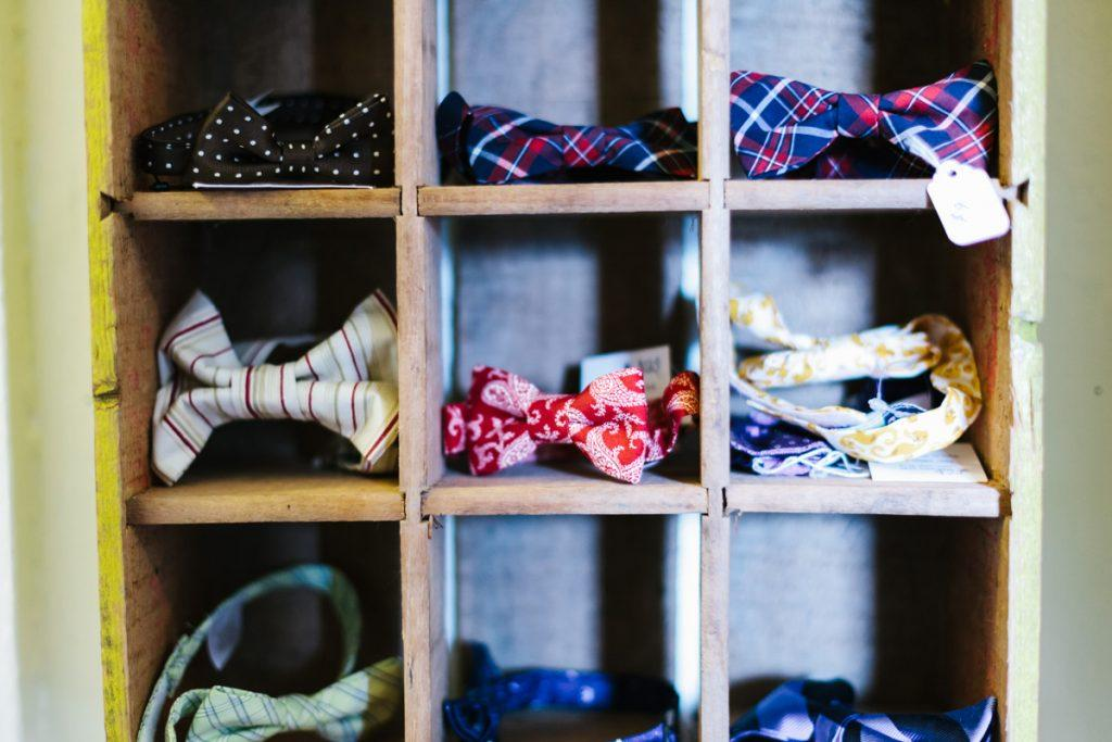 Boys bow ties at Blooming Kids children store and Tacoma event space