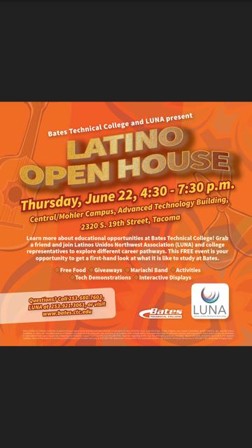 LUNA Latino Open House at Bates