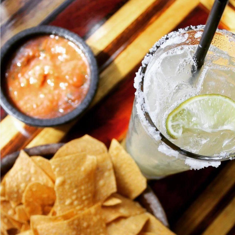 Chips, salsa and margarita at Tacoma Matador