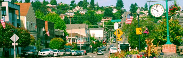 Tacoma's historic Old Town Tacoma neighborhood