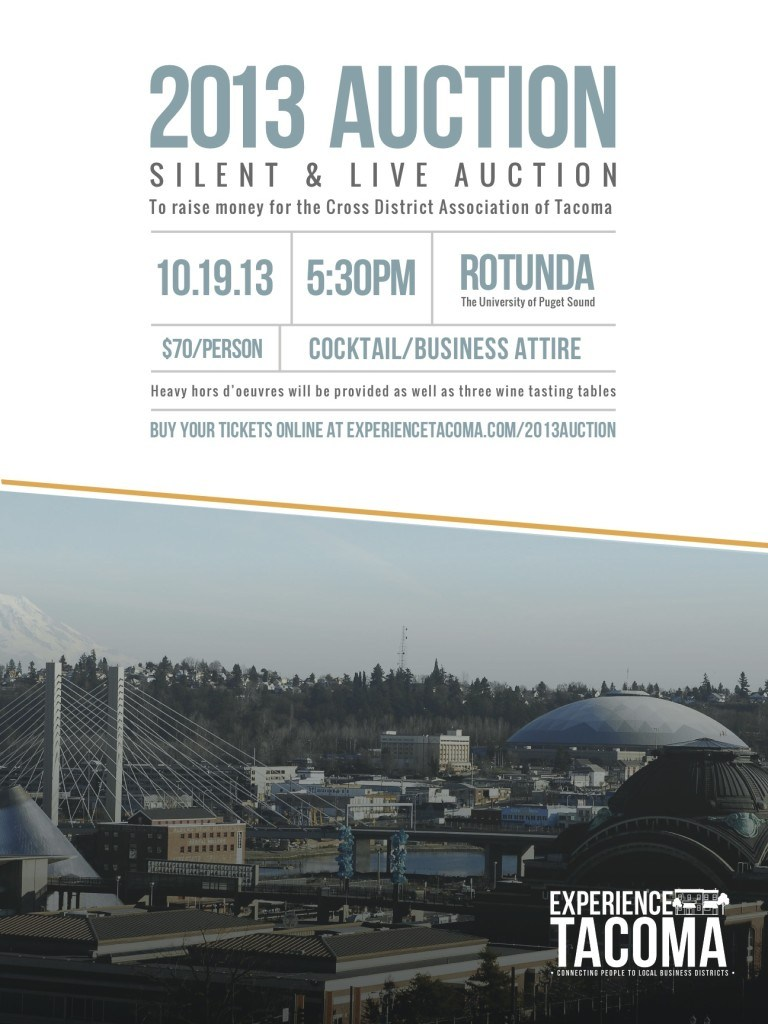 experience tacoma auction poster v3 CDA Auction 2013