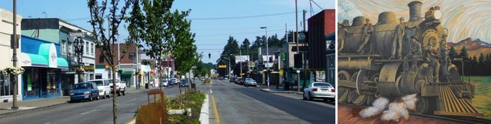 South Tacoma Business District with Experience Tacoma